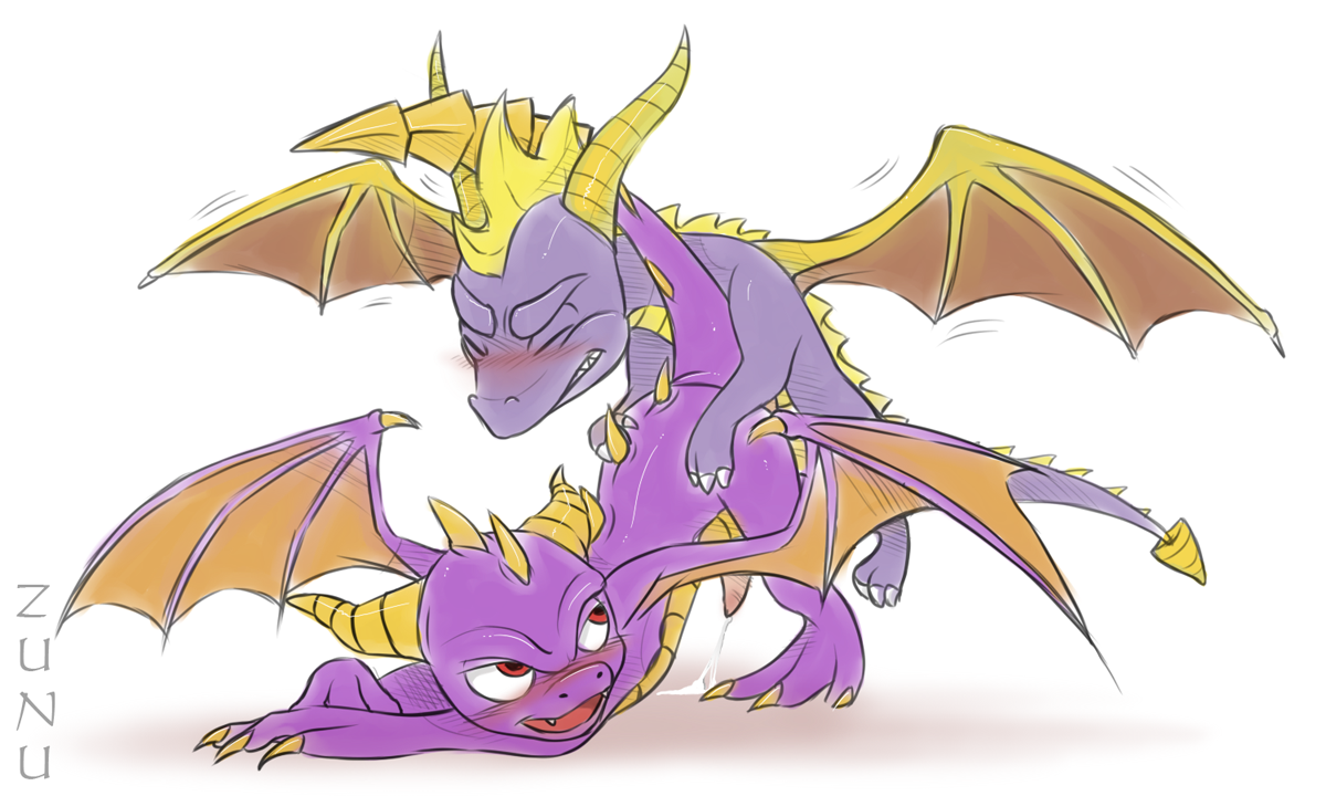 Spyro And Flame As Adult Dragons, Taking It Easy In Dark Hollow