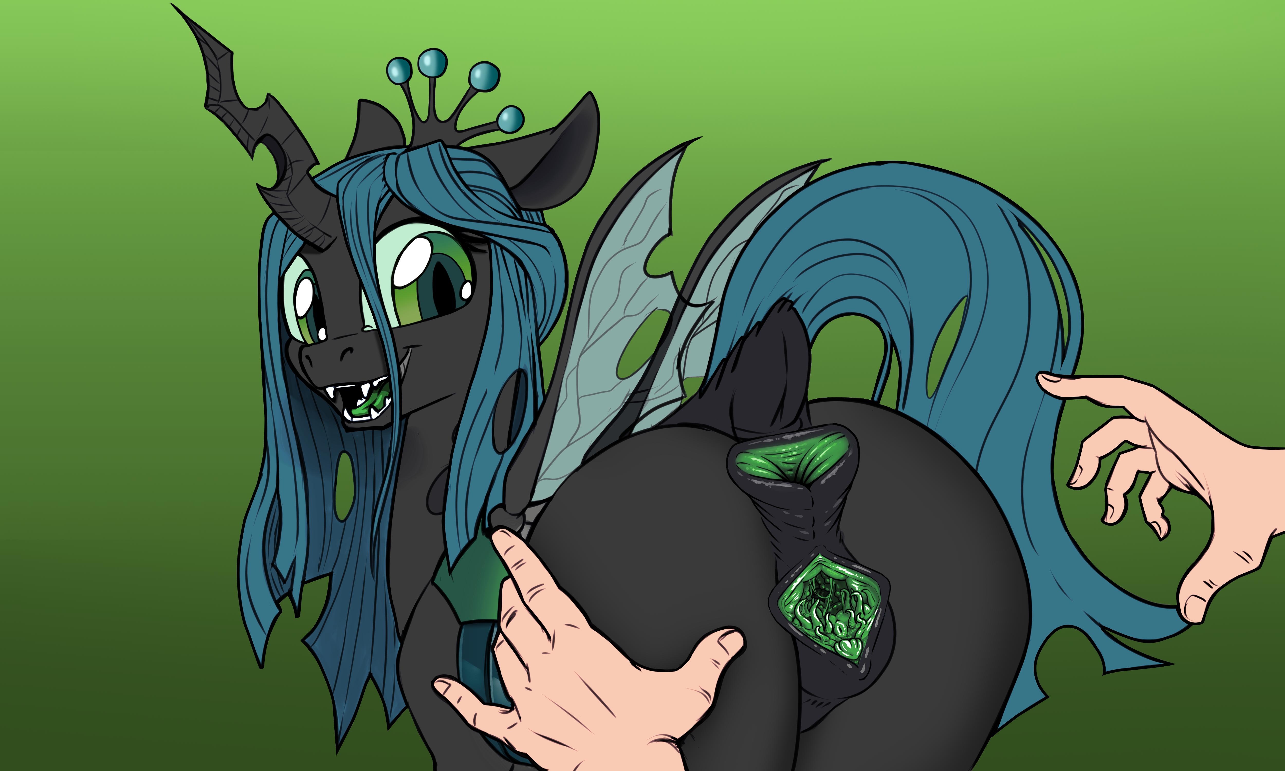 Ychan - f - mt little pony changelings - 132991