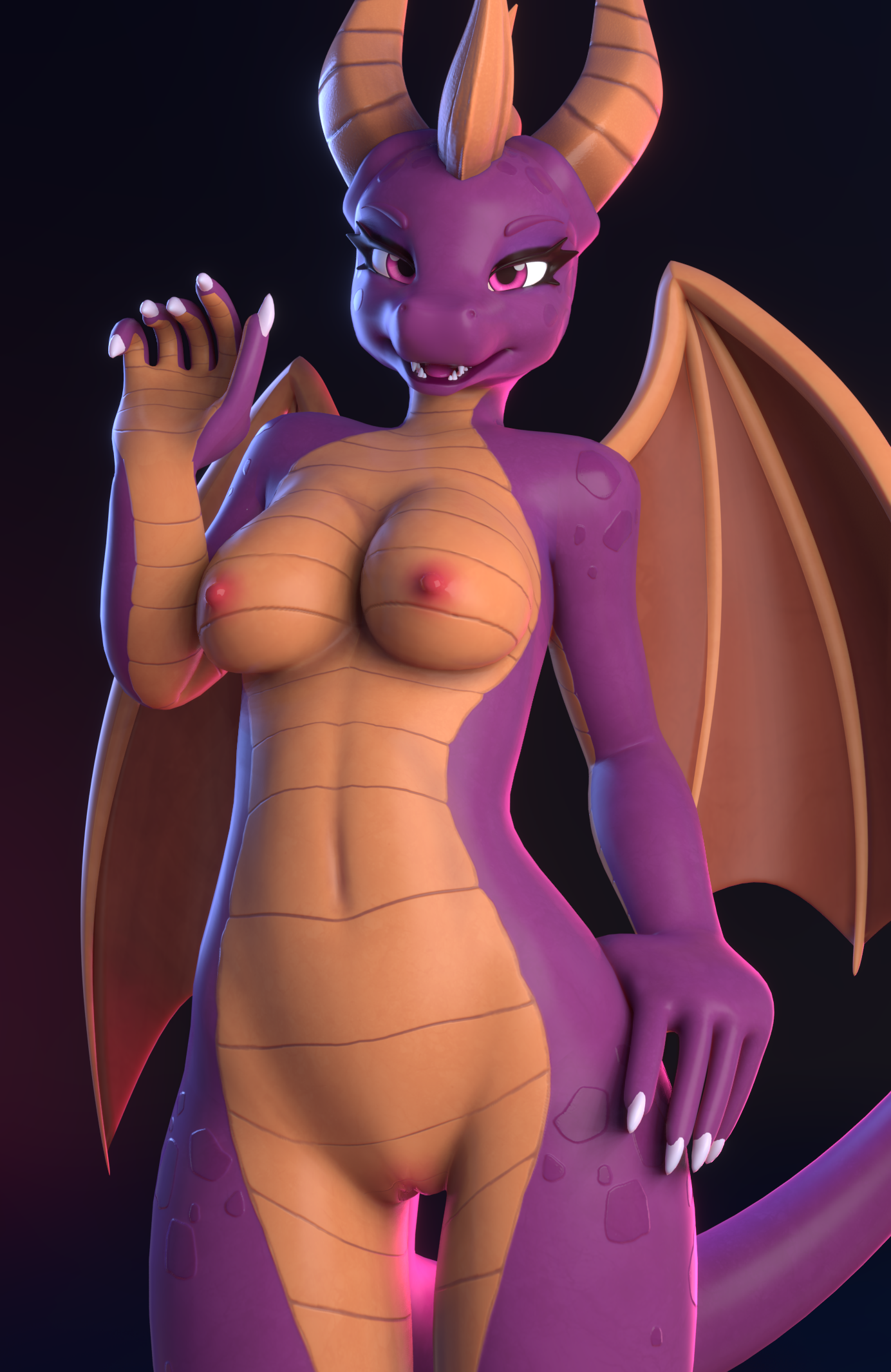 Ychan - f - 3d model furry females - 139936